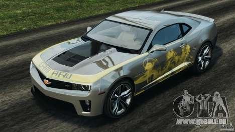 Chevrolet Camaro ZL1 2012 v1.0 Smoke Stripe pour GTA 4