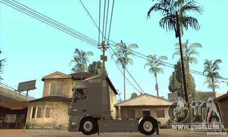 DAF XF pour GTA San Andreas sur la vue arrière gauche