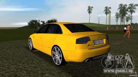 Audi RS4 pour GTA Vice City sur la vue arrière gauche