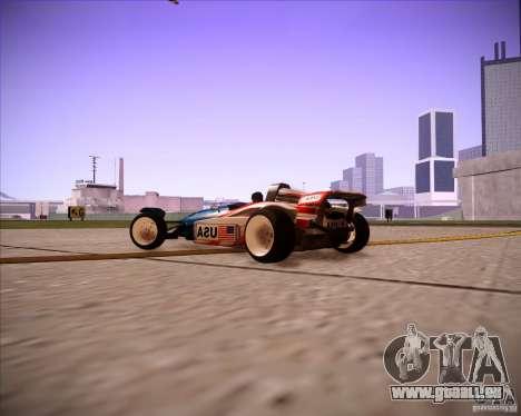 Track Mania Stadium Car für GTA San Andreas rechten Ansicht