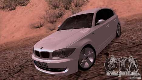 BMW 120i 2009 für GTA San Andreas zurück linke Ansicht