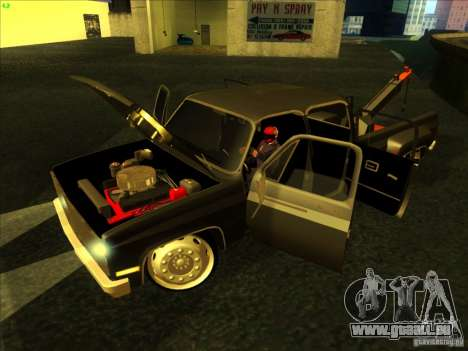 Chevrolet Silverado Towtruck für GTA San Andreas rechten Ansicht