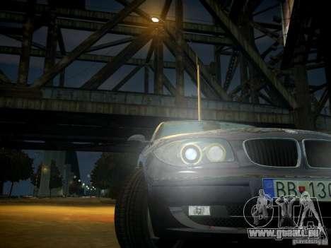 BMW 120i pour GTA 4 vue de dessus
