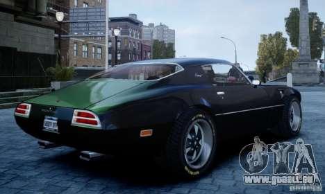 Pontiac Firebird 1971 pour GTA 4 est une gauche