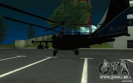 KA-52 ALLIGATOR v1.0 pour GTA San Andreas sur la vue arrière gauche