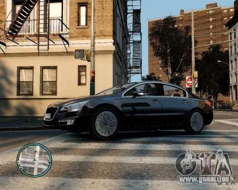 Pegeout 508 v2.0 pour GTA 4 Vue arrière
