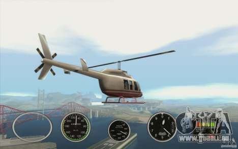 Instruments de l'air dans un avion pour GTA San Andreas quatrième écran