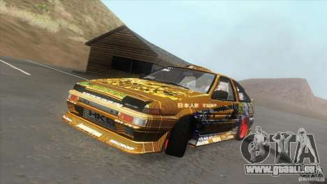 Toyota Corolla AE86 DS pour GTA San Andreas vue intérieure