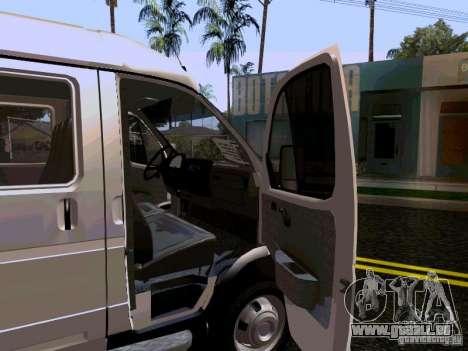Gazelle 32213 1994 für GTA San Andreas Unteransicht