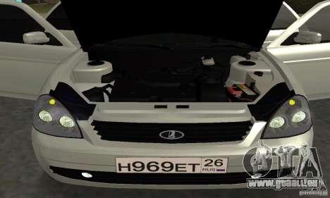Lada Priora Hatchback pour GTA San Andreas salon