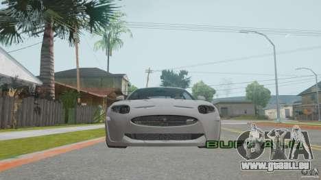 Jaguar XKR-S pour GTA San Andreas vue intérieure