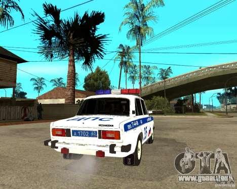 VAZ 2106 DPS für GTA San Andreas zurück linke Ansicht