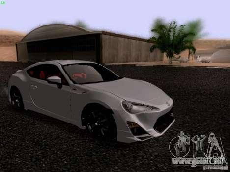 Toyota 86 TRDPerformanceLine 2012 pour GTA San Andreas laissé vue