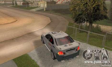 BMW M3 Hamman Street Race pour GTA San Andreas laissé vue