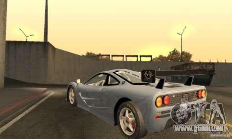 Mclaren F1 LM (v1.0.0) pour GTA San Andreas sur la vue arrière gauche
