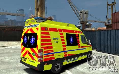 Mercedes-Benz Sprinter 2011 Ambulance pour GTA 4 est un droit