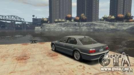 BMW 740i E38 pour GTA 4 est une gauche
