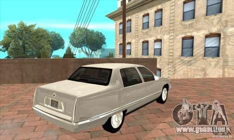 Cadillac Deville v2.0 1994 pour GTA San Andreas vue de droite