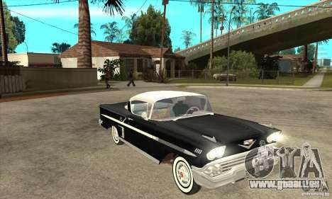 Chevrolet Impala 1958 pour GTA San Andreas vue intérieure