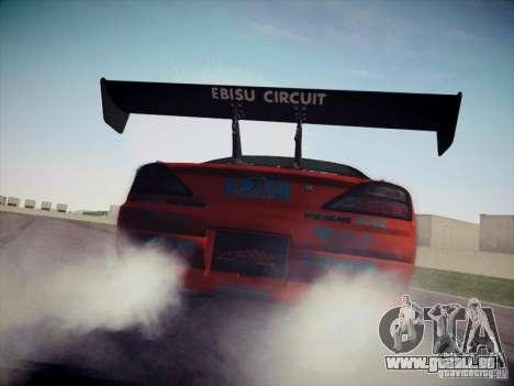 Nissan Silvia S15 Drift für GTA San Andreas zurück linke Ansicht