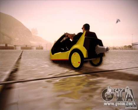 Sinclair C5 pour GTA San Andreas laissé vue