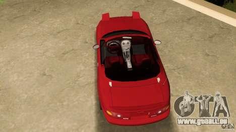 Mazda MX-5 pour une vue GTA Vice City de la droite