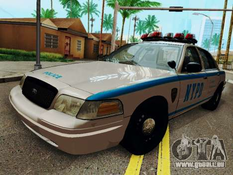 Ford Crown Victoria 2003 NYPD White für GTA San Andreas