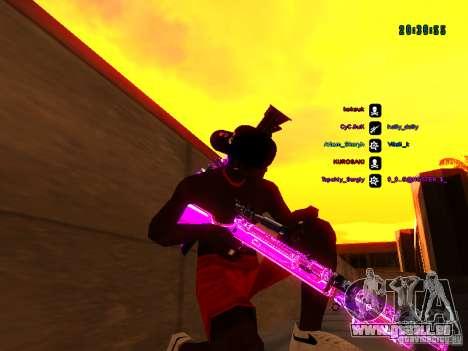 Purple chrome sur armes pour GTA San Andreas septième écran