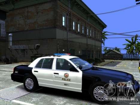 Ford Crown Victoria LAPD [ELS] pour GTA 4 Vue arrière de la gauche
