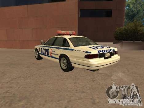Die Polizei von GTA4 für GTA San Andreas rechten Ansicht