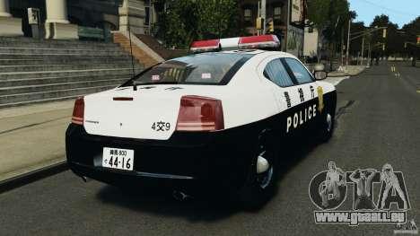 Dodge Charger Japanese Police [ELS] pour GTA 4 Vue arrière de la gauche