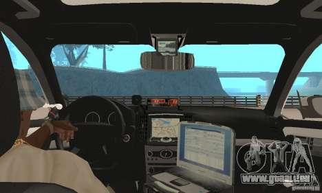 Ford Taurus 2011 Metropolitan Police Car pour GTA San Andreas vue arrière