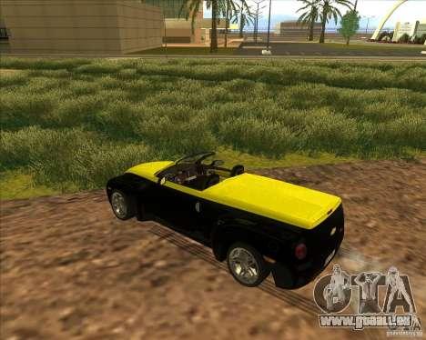 Chevrolet SSR pour GTA San Andreas vue intérieure