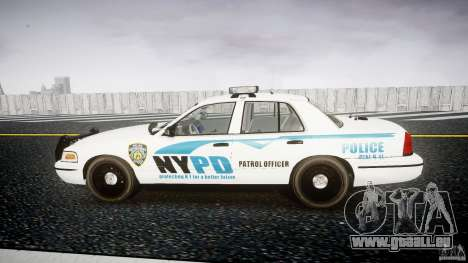 Ford Crown Victoria v2 NYPD [ELS] pour GTA 4 est une gauche