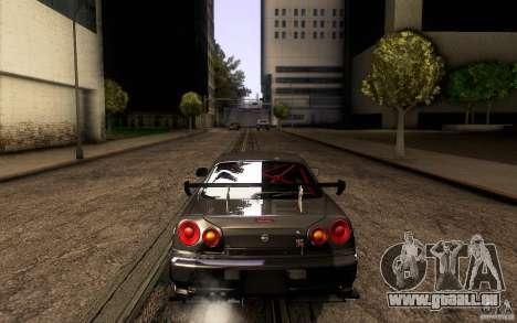Nissan Skyline GT-R34 pour GTA San Andreas vue de dessous