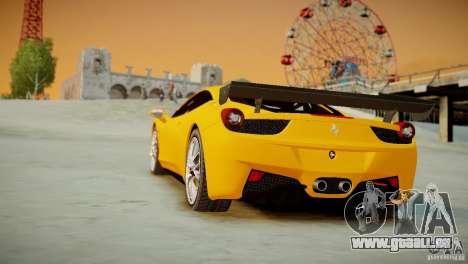 Ferrari 458 Challenge 2011 für GTA 4 Innenansicht