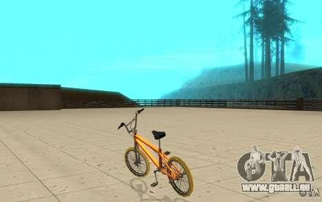 Zeros BMX YELLOW tires für GTA San Andreas zurück linke Ansicht
