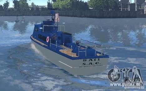 Coast Guard Patrol für GTA 4 rechte Ansicht