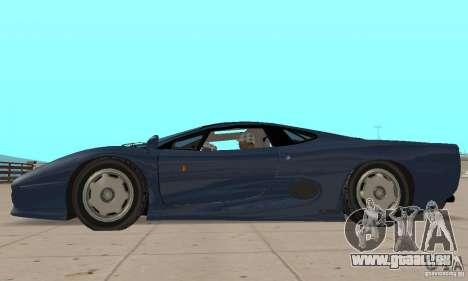 Jaguar XJ220 pour GTA San Andreas sur la vue arrière gauche