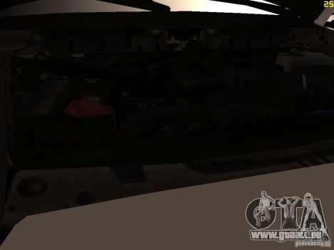 Ford F350 Super Dute pour GTA San Andreas vue intérieure