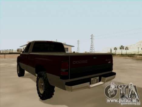 Dodge Ram 2500 1994 für GTA San Andreas Innenansicht