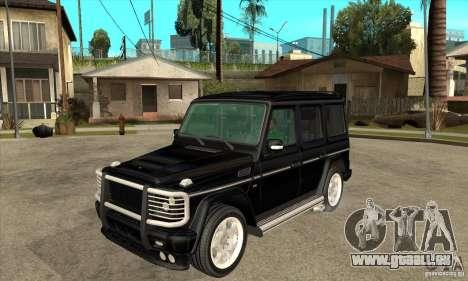 Brabus B11 W463 2008 v1.0 pour GTA San Andreas