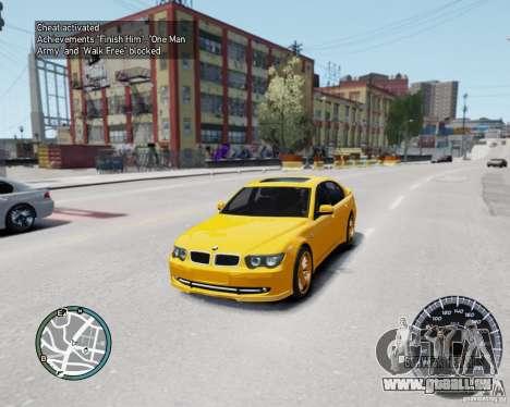 BMW Alpina B7 für GTA 4 Rückansicht