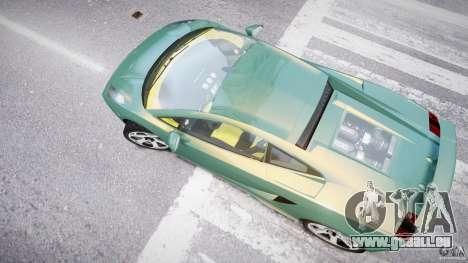 Lamborghini Gallardo pour GTA 4 vue de dessus