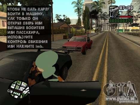 Squidward pour GTA San Andreas huitième écran