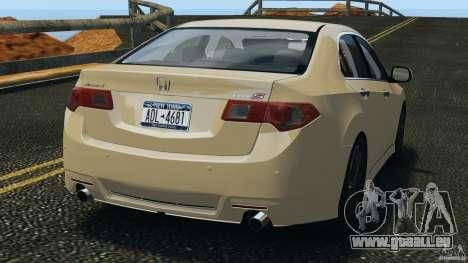 Honda Accord Type S 2008 für GTA 4 hinten links Ansicht