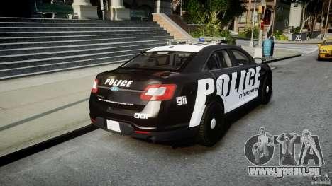 Ford Taurus Police Interceptor 2011 [ELS] für GTA 4 Seitenansicht