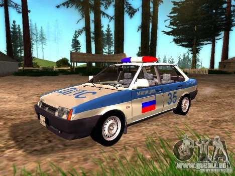 VAZ 2109 Police pour GTA San Andreas