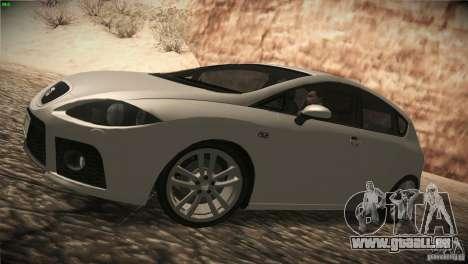 Seat Leon Cupra pour GTA San Andreas sur la vue arrière gauche