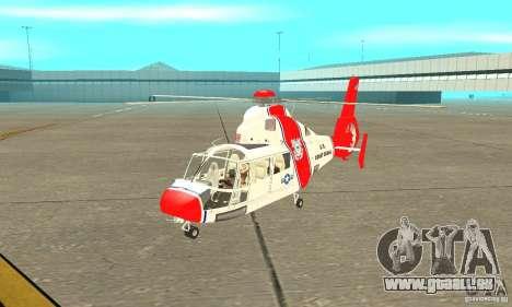 AS-365N United States Coast Guard pour GTA San Andreas laissé vue